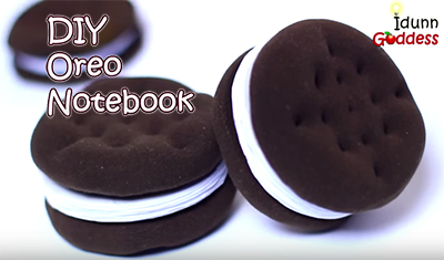 Oreo Notebook DIY